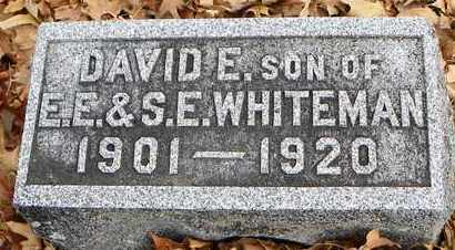WHITEMAN, DAVID E - Shawnee County, Kansas | DAVID E WHITEMAN - Kansas Gravestone Photos