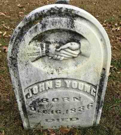 YOUNG , JOHN S  (VETERAN UNION - Shawnee County, Kansas   JOHN S  (VETERAN UNION YOUNG  - Kansas Gravestone Photos