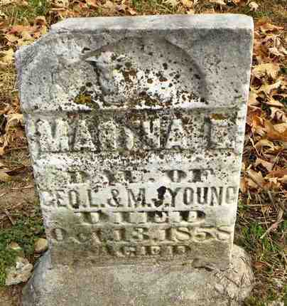 YOUNG, MARTHA E - Shawnee County, Kansas | MARTHA E YOUNG - Kansas Gravestone Photos