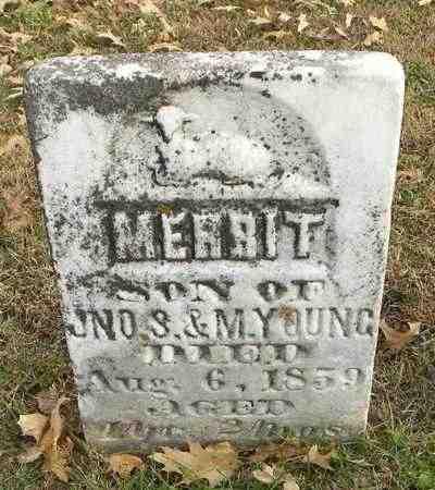 YOUNG, MERRIT - Shawnee County, Kansas | MERRIT YOUNG - Kansas Gravestone Photos