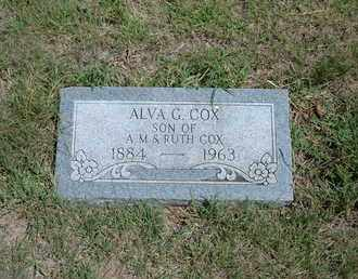 COX, ALVA G - Stanton County, Kansas | ALVA G COX - Kansas Gravestone Photos