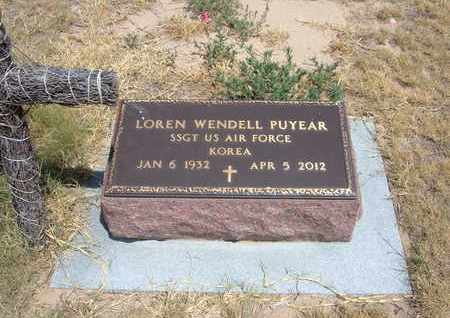 PUYEAR, LOREN WENDELL   (VETERAN KOR) - Stanton County, Kansas | LOREN WENDELL   (VETERAN KOR) PUYEAR - Kansas Gravestone Photos