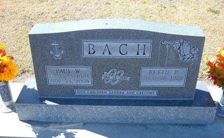 BACH, PAUL WILLIAM - Stevens County, Kansas | PAUL WILLIAM BACH - Kansas Gravestone Photos