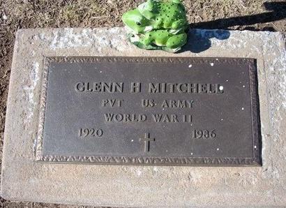 MITCHELL, GLENN H   (VETERAN WWII) - Stevens County, Kansas | GLENN H   (VETERAN WWII) MITCHELL - Kansas Gravestone Photos