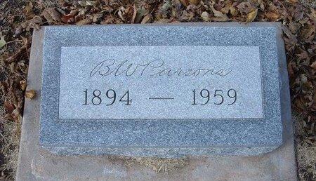 PARSONS, BENJAMIN WESLEY - Stevens County, Kansas | BENJAMIN WESLEY PARSONS - Kansas Gravestone Photos