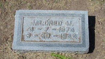 PARSONS, MARIA MILDRED - Stevens County, Kansas | MARIA MILDRED PARSONS - Kansas Gravestone Photos