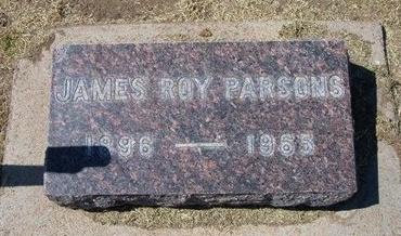 PARSONS, JAMES ROY   (VETERAN WWI) - Stevens County, Kansas | JAMES ROY   (VETERAN WWI) PARSONS - Kansas Gravestone Photos