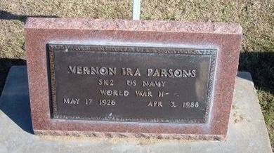 PARSONS, VERNON IRA (VETERAN WWII) - Stevens County, Kansas | VERNON IRA (VETERAN WWII) PARSONS - Kansas Gravestone Photos