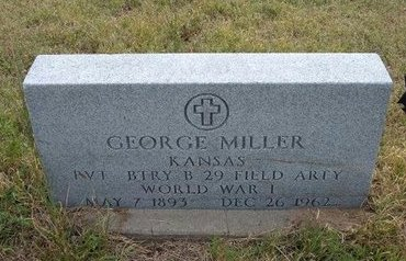 MILLER, GEORGE  (VETERAN WWI) - Wallace County, Kansas | GEORGE  (VETERAN WWI) MILLER - Kansas Gravestone Photos