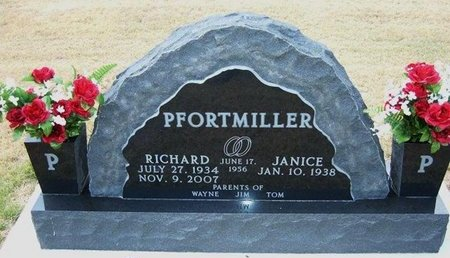 PFORTMILLER, RICHARD - Wallace County, Kansas | RICHARD PFORTMILLER - Kansas Gravestone Photos