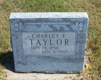TAYLOR, CHARLEY E - Wallace County, Kansas | CHARLEY E TAYLOR - Kansas Gravestone Photos