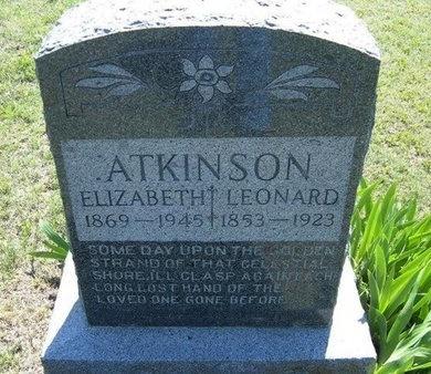 ATKINSON, ELIZABETH - Wichita County, Kansas | ELIZABETH ATKINSON - Kansas Gravestone Photos