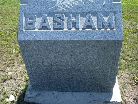 BASHAM, ELIZA JANE - Wichita County, Kansas | ELIZA JANE BASHAM - Kansas Gravestone Photos