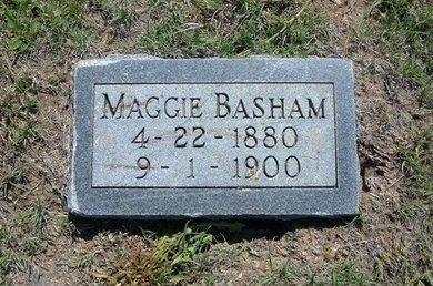 BASHAM, MAGGIE - Wichita County, Kansas | MAGGIE BASHAM - Kansas Gravestone Photos