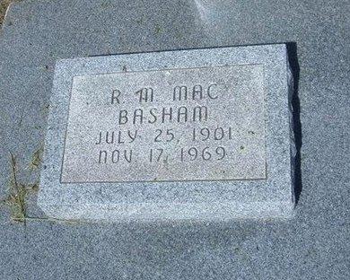 "BASHAM, R MCKINLEY ""MAC"" - Wichita County, Kansas | R MCKINLEY ""MAC"" BASHAM - Kansas Gravestone Photos"