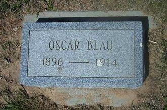 BLAU, OSCAR - Wichita County, Kansas | OSCAR BLAU - Kansas Gravestone Photos