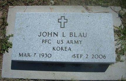 BLAU, JOHN L  (VETERAN KOR) - Wichita County, Kansas   JOHN L  (VETERAN KOR) BLAU - Kansas Gravestone Photos