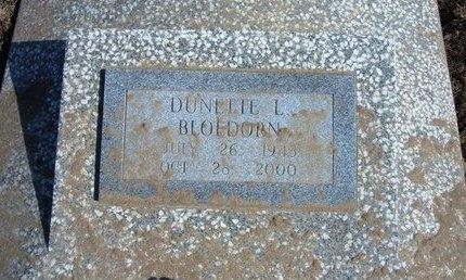 BLOEDORN, DUNETTE L - Wichita County, Kansas   DUNETTE L BLOEDORN - Kansas Gravestone Photos
