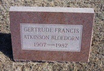 BLOEDORN, GERTRUDE FRANCIS - Wichita County, Kansas | GERTRUDE FRANCIS BLOEDORN - Kansas Gravestone Photos