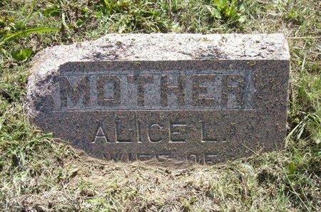 BROCK, ALICE LAVENIA - Wichita County, Kansas | ALICE LAVENIA BROCK - Kansas Gravestone Photos