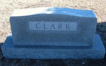 CLARK FAMILY GRAVESTONE,  - Wichita County, Kansas |  CLARK FAMILY GRAVESTONE - Kansas Gravestone Photos