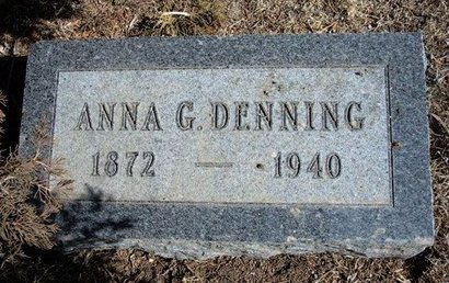 DENNING, ANNA G - Wichita County, Kansas | ANNA G DENNING - Kansas Gravestone Photos