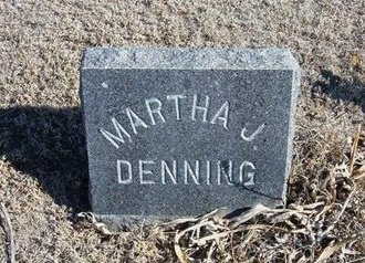 DENNING, MARTHA J - Wichita County, Kansas | MARTHA J DENNING - Kansas Gravestone Photos