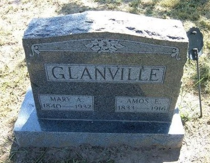 COOK GLANVILLE, MARY ANN - Wichita County, Kansas | MARY ANN COOK GLANVILLE - Kansas Gravestone Photos