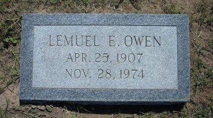 OWEN, LEMUEL E - Wichita County, Kansas | LEMUEL E OWEN - Kansas Gravestone Photos