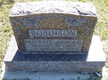 ROBINSON, MAURINE ARNOLD - Wichita County, Kansas   MAURINE ARNOLD ROBINSON - Kansas Gravestone Photos