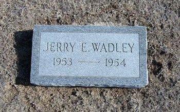 WADLEY, JERRY E - Wichita County, Kansas | JERRY E WADLEY - Kansas Gravestone Photos