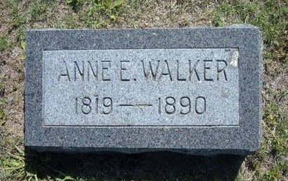 WALKER, ANNE E - Wichita County, Kansas | ANNE E WALKER - Kansas Gravestone Photos