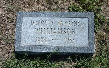 WILLIAMSON, DOROTHY EVEGENE - Wichita County, Kansas | DOROTHY EVEGENE WILLIAMSON - Kansas Gravestone Photos