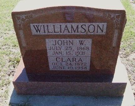 WILLIAMSON, JOHN W - Wichita County, Kansas | JOHN W WILLIAMSON - Kansas Gravestone Photos
