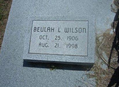 WILSON, BEULAH LILLIAN - Wichita County, Kansas | BEULAH LILLIAN WILSON - Kansas Gravestone Photos
