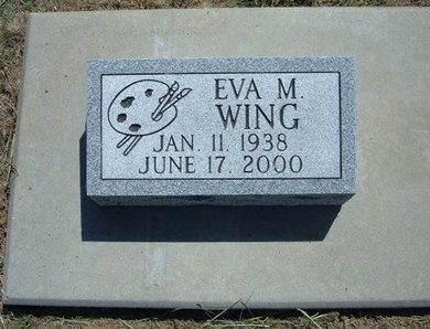 WING, EVA M - Wichita County, Kansas | EVA M WING - Kansas Gravestone Photos