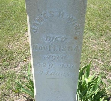 WING, JAMES HENRY - Wichita County, Kansas | JAMES HENRY WING - Kansas Gravestone Photos