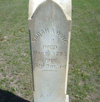 WING, SARAH ANN - Wichita County, Kansas | SARAH ANN WING - Kansas Gravestone Photos