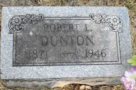 DUNTON, ROBERT L - Woodson County, Kansas | ROBERT L DUNTON - Kansas Gravestone Photos