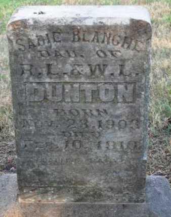 DUNTON, SADIE BLANCHE - Woodson County, Kansas | SADIE BLANCHE DUNTON - Kansas Gravestone Photos