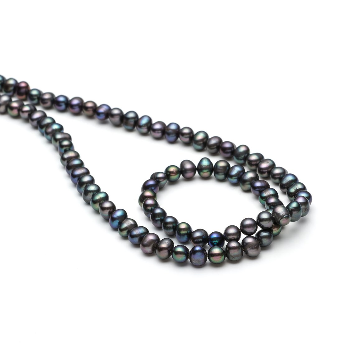 jewelry freshwater silver com set peacock grey black bracelet stretch cultured amazon dp dyed pearls piece sets