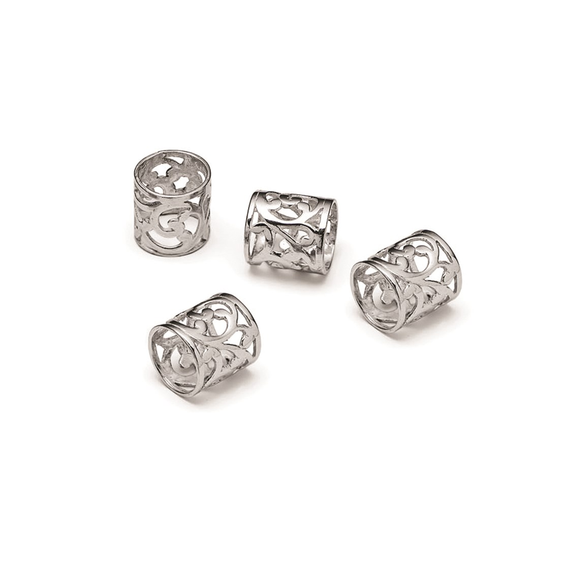 Sterling Silver Cut Out Tube Bead 9 5x9mm