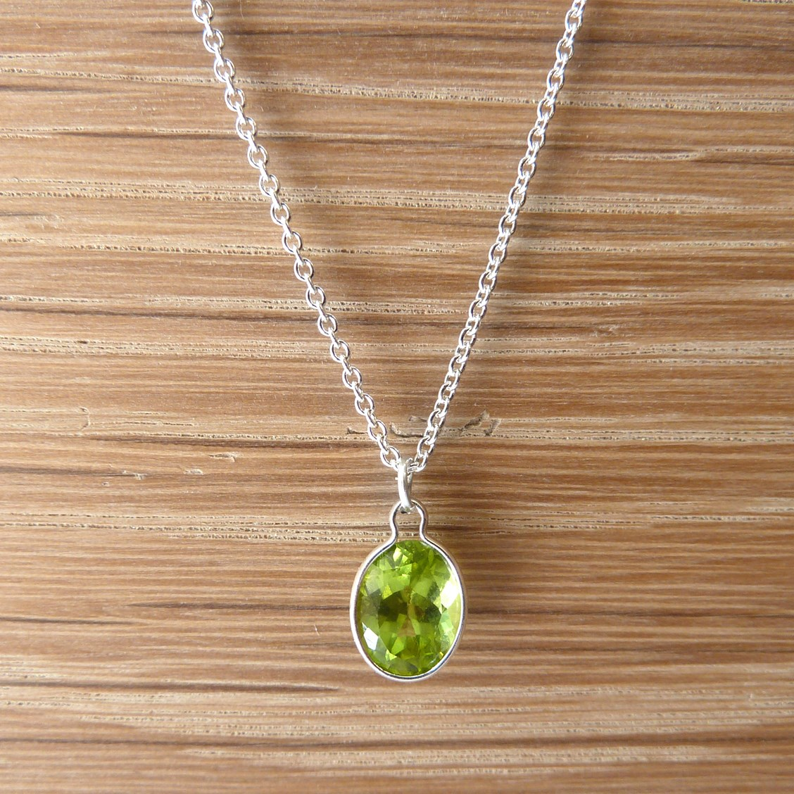 ca il teardrop simple peridot sterling silver etsy jewelry market necklace genuine