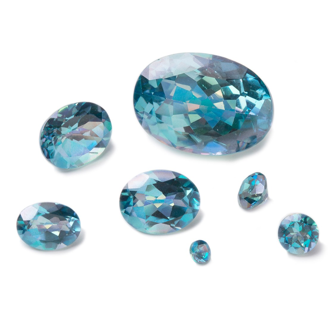 Sterling Silver FACETED  5mm BLUE TOPAZ ROUND SHAPE  CHARM BEAUTIFUL