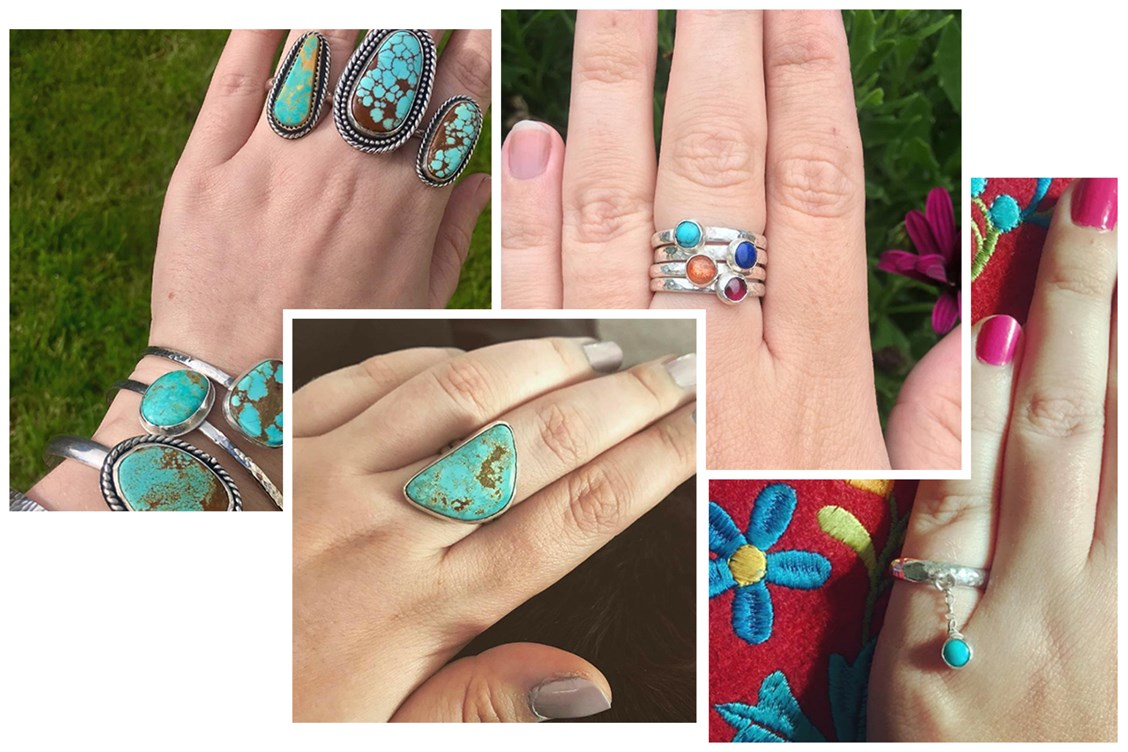 silver linings turquoise jewellery