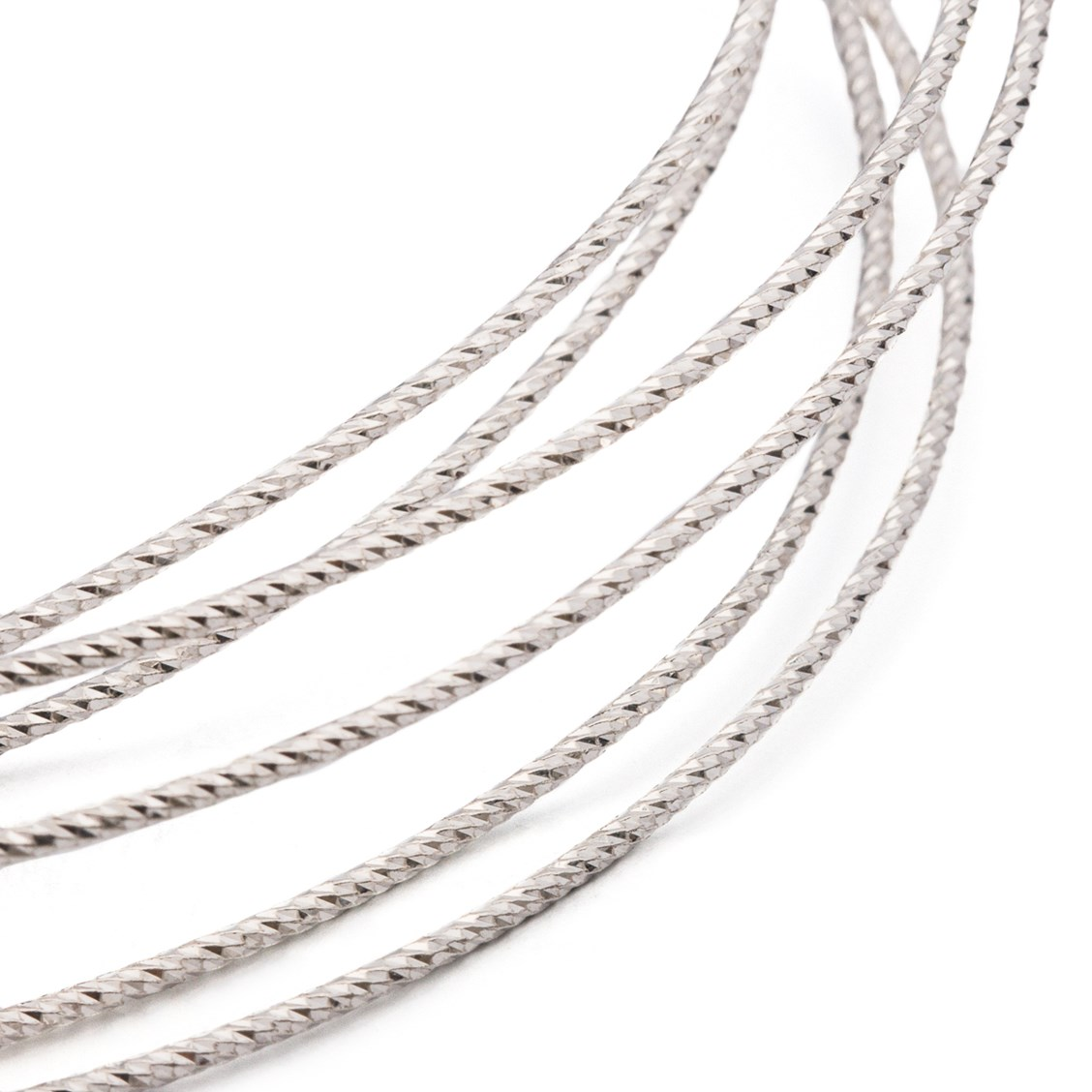 Sterling Silver Diamond Twisted Wire