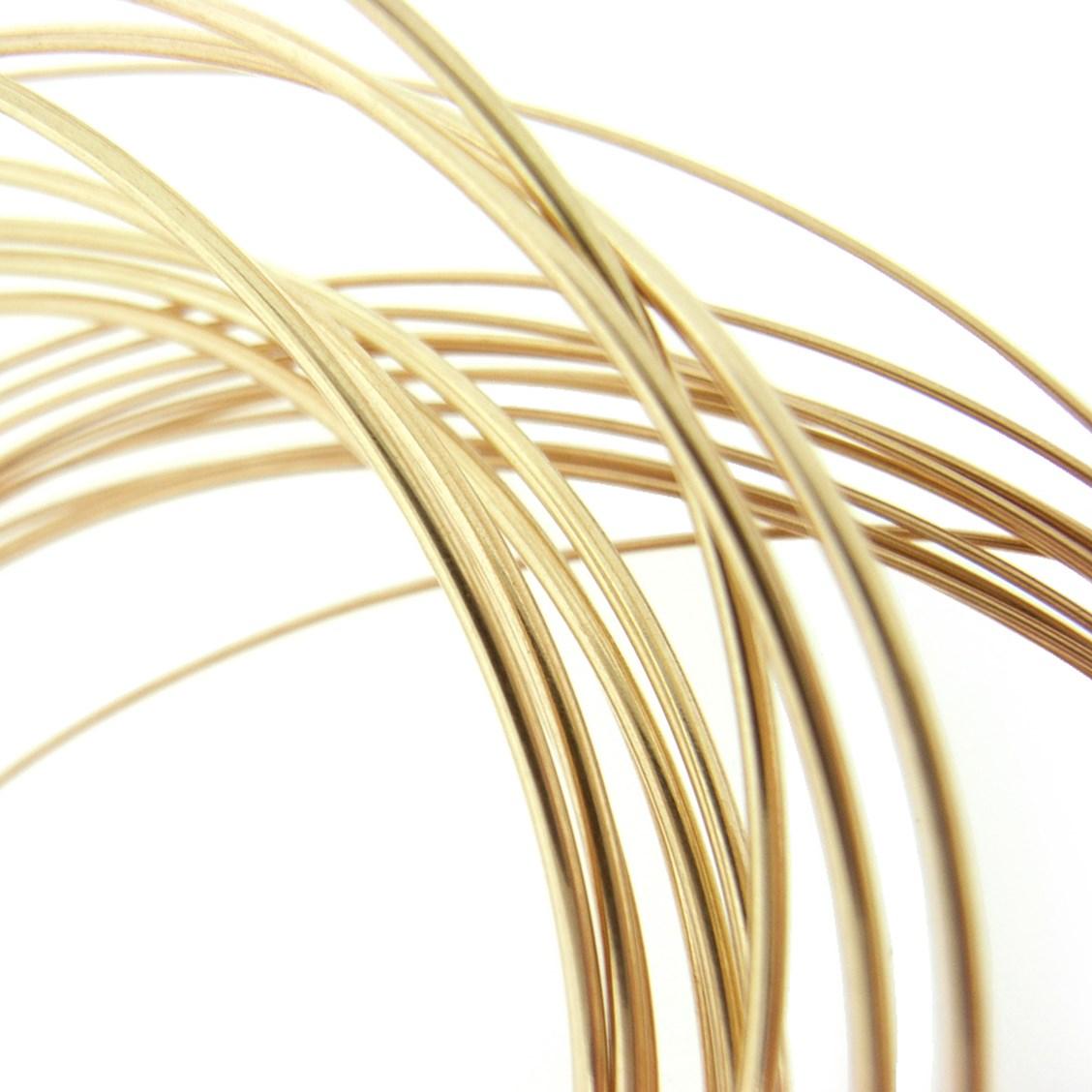 9ct Gold Round Wire