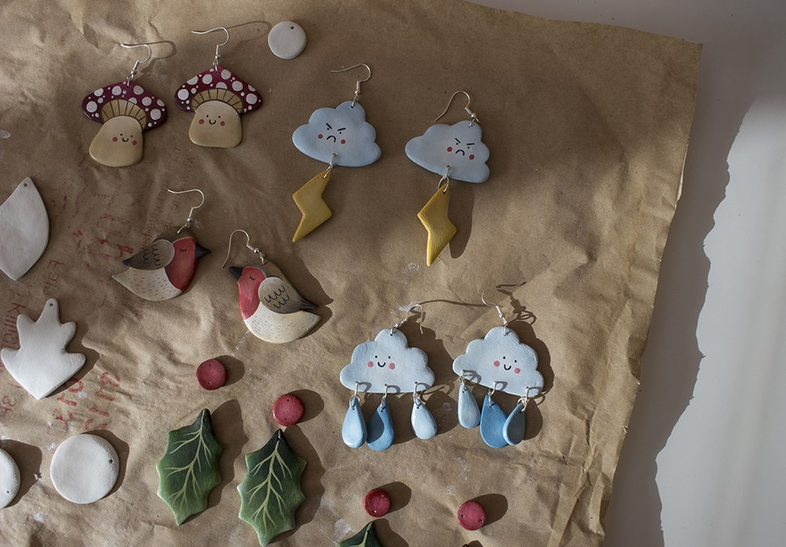 jewellery making with polymer clay