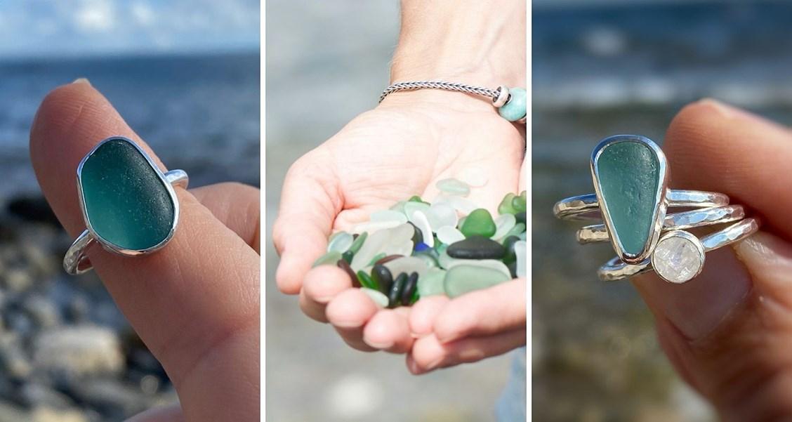 sarah bird sea glass ring tutorial
