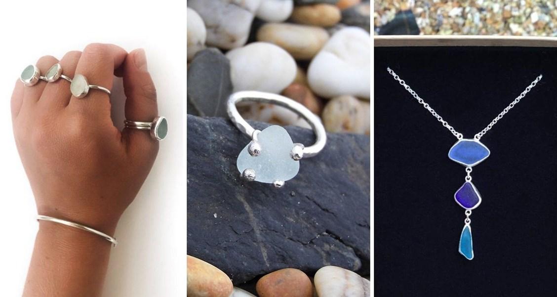 customer sea glass jewellery designs